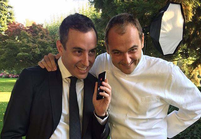 Will Guidara (left) and Daniel Humm (right) learning about their three-star rating for Eleven Madison Park and one-star rating for the Nomad in 2015. Credit: Daniel Humm's Facebook