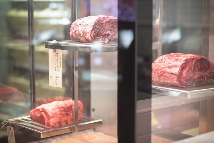 The dry-aged beef cabinet at Swiss Butchery.
