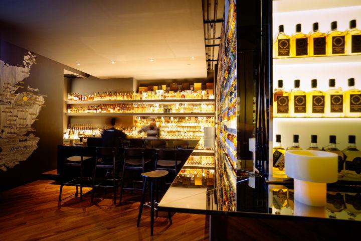 The interiors of Quaich Bar