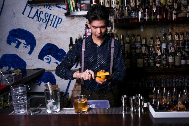Flagship's head bartender, Jerrold Khoo