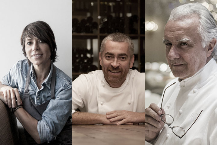 From left: Dominique Crenn, Alex Atala, Alain Ducasse