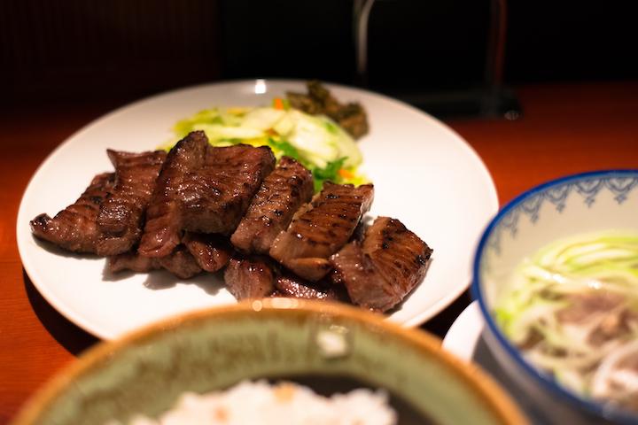 Roast cow tongue, a Miyagi specialty