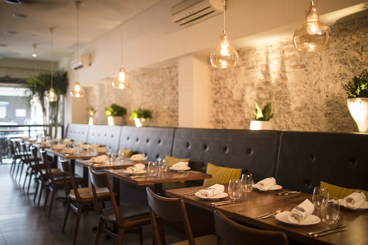 The interior of Cheek by Jowl
