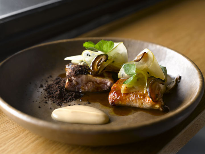 Roasted quail, chestnuts and mushrooms — a popular dish from Cheek by Jowl
