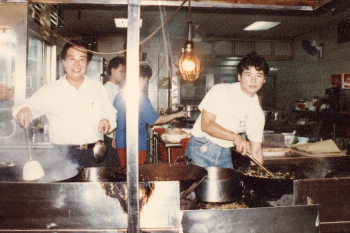 Kim's Place founder Tan Kue Kim (left) and his son Tan Hock Yong.