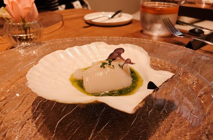 Fresh, seasonal scallops from Sarufutsu, Hokkaido