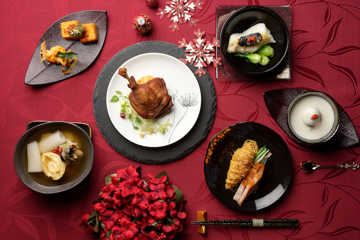 The Winter Solstice menu features a French-inspired duck confit