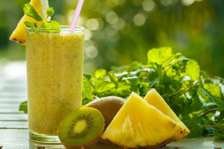 Kiwi and pineapple contain enzymes that aid digestion.