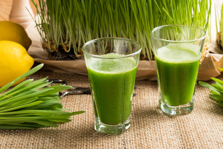 Wheatgrass is rich in chlorophyll which has detoxification properties.