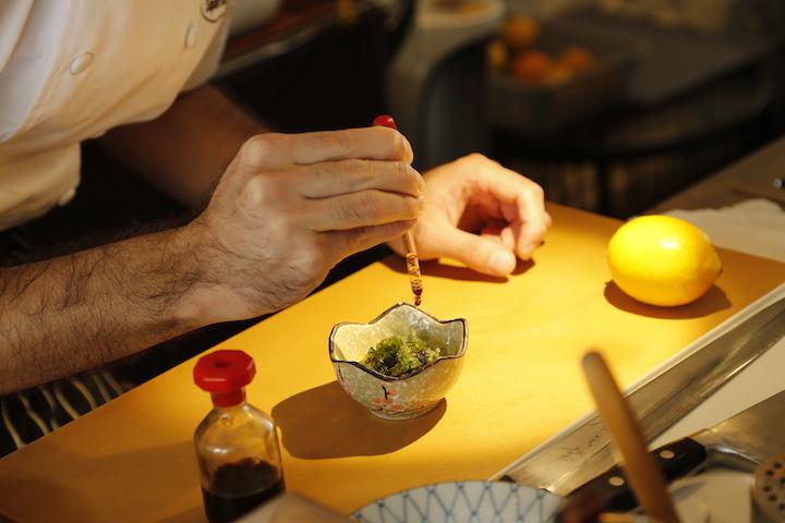 Okinawa is known for its mineral-rich seaweed like the Mozoku seaweed served at O-ku Japanese Tapas Bar.