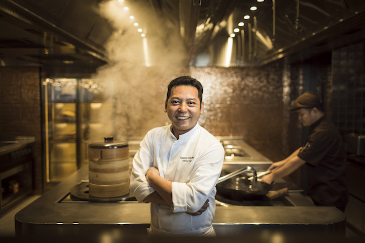 Sofitel Singapore City Centre's Chinese executive chef Andrew Chong helms the Chinese kitchen brigade at Racines.